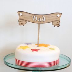 Dad Cake, Wooden Cake Toppers, Buffet, Etsy Shop, This Or That Questions, Desserts, Food, Tailgate Desserts, Deserts
