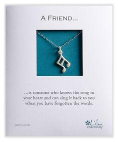 Love this Sterling Silver Music Note Pendant Necklace by Lily Charmed on #zulily! #zulilyfinds