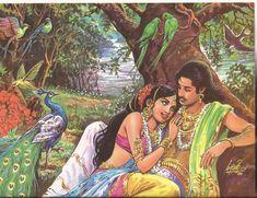 Indian Women Painting, Indian Art Paintings, Beautiful Fantasy Art, Indian Gods, Woman Painting, Islamic Art, Art Images, New Art, Art Boards