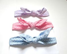 Baby head wrapbaby headband bow headband polka dot by colorsplashh