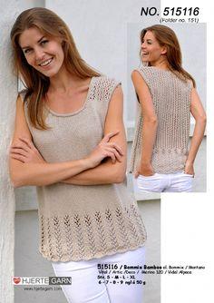 Crochet T Shirts, Crochet Blouse, Knit Crochet, Summer Knitting, Lace Knitting, Knitting Stitches, Ladies Cardigan Knitting Patterns, Diy Pullover, Knitting Designs