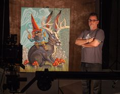 """Amazing photograph of Robert Tatum's original painting, """"The Gnome Ranger."""" ©2015 Kevin G Saunders Photography - www.kevingsaunders.com"""