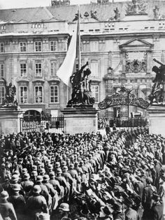 German troops entering Prague, Czechoslovakia , March 15, 1938.