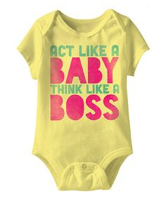 7bfd16f5fa Urs Truly Banana Think Like a Boss Bodysuit - Infant