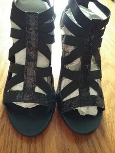 This is Mercari. Black Glitter Heels, Black Shoes, Gladiator Sandals, Stuff To Buy, Things To Sell, Fashion, Moda, Fasion, Trendy Fashion