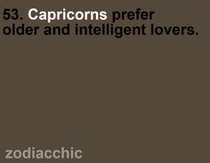 Capricornianos preferem amantes mais velhos e inteligentes.