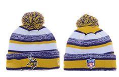 397c186b9a0 Unisex Winter Warm Wool Sports Cap Cuff Knit Hat Pom Beanie (Minnesota  Vikings) Nfl