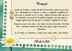 Oração Bahá'í - Proteção - www.bahai.org.br