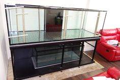 "Build on site tropical setup size 96""x30""x30"" with metal frame and 60""x24""x24"" size sump tank.  Prime Aquariums Ltd - Your Custom Fish Tank Manufacturer in the UK"