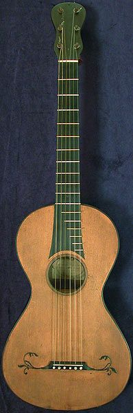 Early Musical Instruments, antique Romantic Guitar by Gennaro Fabricatore dated 1806