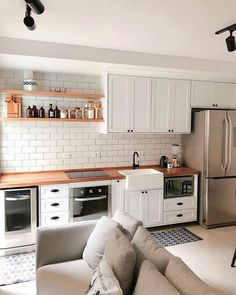 Home Decor Quotes Kitchen Models, Apartment Kitchen, Interior Exterior, Home Decor Bedroom, Interiores Design, Cheap Home Decor, Home Remodeling, Decoration, 3 D