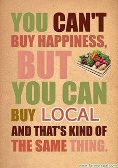 Buy fresh food and eat a lot...but buy it locally (no pesticides i.e) Weight loss is easier if we eat more veggie.