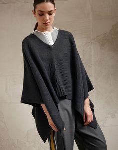 246e7626fa1 Poncho en camisa Cardigan Sweaters For Women, Wool Sweaters, Cashmere  Cardigan, Sweater Cardigan