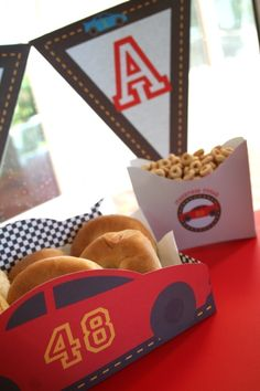Race Car Birthday Party Collection - YOU CUSTOMIZE. $14.95, via Etsy.