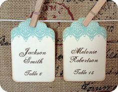 Vintage Lace Escort Tag Cards