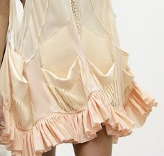 Loving this ruffling detail and the buttons
