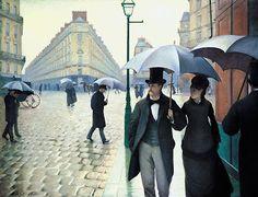 """""""Calle de París; día lluvioso"""", Gustave Caillebotte, 1877"""