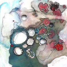"""Nava Lubelski - """"The Sum of All Parts"""" (textile art) A Level Textiles, Growth And Decay, Design Textile, Textiles Techniques, A Level Art, Fabric Manipulation, Schmuck Design, Textile Artists, Art Plastique"""