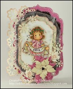 Tilda with banner, Nativity Collection 2012, Magnolia stamps
