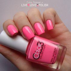 Swatch of Color Club Flamingo Nail Polish