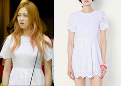 """Lee Sung-Kyung 이성경 in """"It's Okay, That's Love"""" Episode 9.  LAP AE2WO584 Embroidered Eyelet Dress #Kdrama #ItsOkayThatsLove 괜찮아, 사랑이야 #LeeSungKyung"""