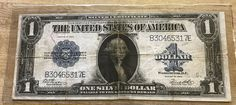 1923 silver certificate large one dollar bill United States Currency by IroquoisCopper on Etsy