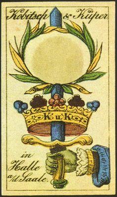 Nombre: Trappolier: Alemania (Germany) Fabricante: Kobitsch&Kuper. Fecha:1.856. BARAJA ORIGINAL