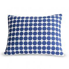 Blue dot pillow novogratz