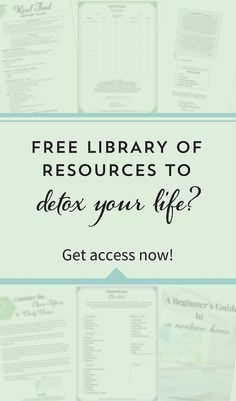 Want to eat healthfully, transition to natural beauty, and detox your home? This FREE library is full of guides, worksheets, and eBooks! Click through to get instant access!
