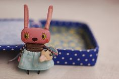 Fabric bunny doll ❤❦♪♫