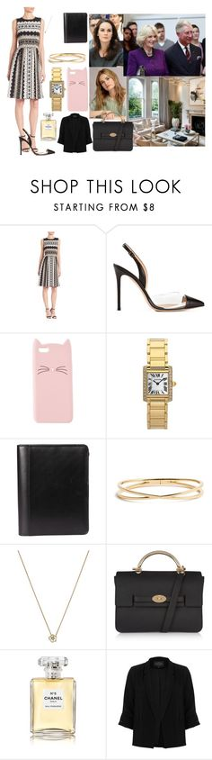 """""""27th August. Has meeting with her Father Prince Charles at Clarence House"""" by thatnellegirl27 ❤ liked on Polyvore featuring St. John, Rick Owens Lilies, Burberry, Gianvito Rossi, Charlotte Russe, Cartier, Nadri, Shaun Leane, Mulberry and Chanel"""