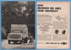 1964 Chevrolet C80 Garbage Truck Photo Vintage 1960s Chevy Print Ad