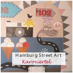 Colourful street art at the Karolinenviertel in Hamburg www.standorthamburg.eu/2015/streetart-in-het-karoviertel