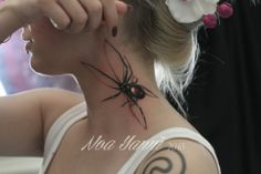 Ewwwwww!!!!!!! Creepy 3d spider tattoo!!!