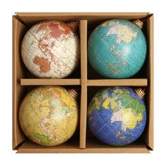 Globe baubles - box of 4 - Christmas Tree Decorations - Holiday Shop