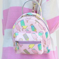 Cute Mini Backpacks, Stylish Backpacks, Girl Backpacks, My Bags, Purses And Bags, Fashion Bags, Fashion Backpack, Kawaii Bags, Novelty Bags