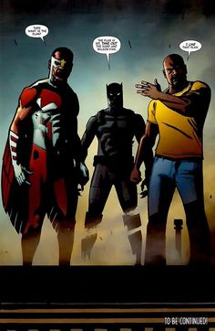 Falcon, Black Panther & Luke Cage in Black Panther: The Most Dangerous Man Alive #526 (2012) - Shawn Martinbrough