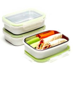 Steeltainers: stainless steel leak-proof lunch container, set of 3 $30