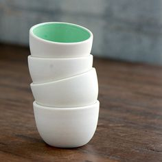 Stacking Thimble Cups Set 4 by PigeonToeCeramics on Etsy, $42.00 {$11 for one}