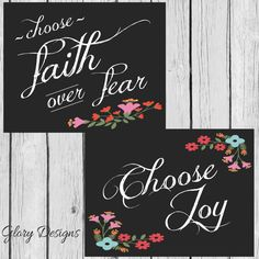 Wall Art, Printable, Bible verse, Vintage style, DIY, Choose Joy, Choose Faith over fear, Inspirational quote, Instant Download