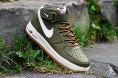 #Nike Air Force 1 Mid '07 Medium Olive/Sail-Gamma Light Brown #sneakers