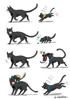 """리밥/むぎ en Twitter: """"BAT-CAT NOT FAT CAT https://t.co/0Tz2gfMDqI"""""""