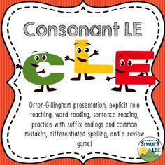 Consonant LE Introduction (CLE) - Syllable Type Orton Gillingham