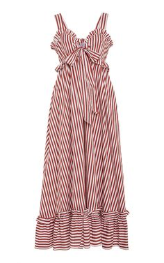 Valentina Striped Cotton-Poplin Midi Dress by Thierry Colson Dress Outfits, Casual Outfits, Maternity Dresses, Striped Dress, Poplin, Dress To Impress, Style Inspiration, Summer Dresses, Clothes For Women