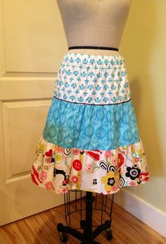 tutorial: sew a three tier skirt - I need to keep this tutorial handy. . . .I might try to tackle a 5 tier skirt one day soon.