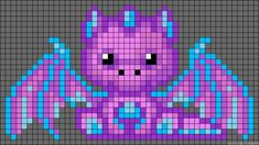 cute dragon(480×270)....used this pattern for pixel baby blanket