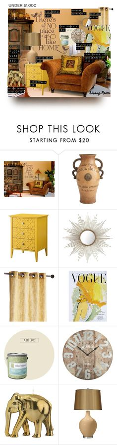 """""""Living Room Refresh"""" by annbaker ❤ liked on Polyvore featuring interior, interiors, interior design, home, home decor, interior decorating, Pier 1 Imports, Art for Life, Colorhouse and Wiedemann Candles"""