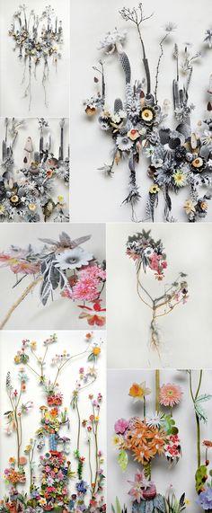 flower constructions by Anne ten Donkelaar / featured on dearestnature.com