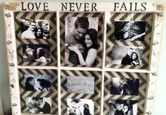 Perfect gift for Valentine's Day or a wedding gift! Love Old Window Picture Frames!!