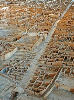 Pompeii in 19th Century - A paper, wood and plaster scale model of Pompeii by the archaeologist Giuseppe Fiorelli between 1861 and 1879.